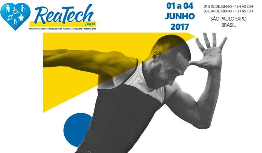 foto de Homem correndo, em preto e branco, logo da reatech e datas (informacoes no corpo do post.