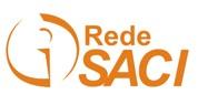 Logotipo da Rede Saci, onde vê-se a letra i cntornada por um círculo