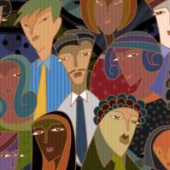 Ilustração de pessoas de várias etnias