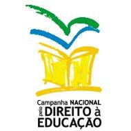 Campanha Nacional pelo Direito à Educação - um livro e aves saindo dentro dele