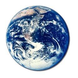 Vista espacial do Planeta Terra.