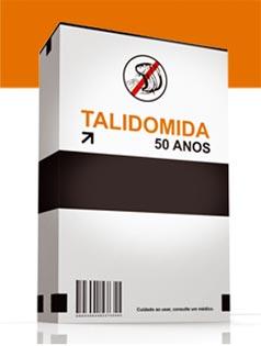 Caixa do remédio talidomida