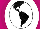 Logotipo do concurso - Globo mostrando o mapa das Américas