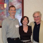 Teresa Cody, founder of Changing Minds Foundation, with Craig Garner and Craig Heller, researchers from Stanford University