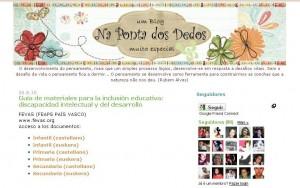"""Página inicial do blog """"Na Ponta dos Dedos"""""""