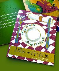 Imagem da capa do livro, onde aparece um prato e talheres sobre uma mesa
