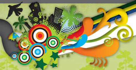 Prêmio Anu - imagem multicolorida de uma cidade engolida por cores, de onde voa um pássaro negro