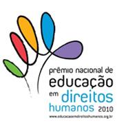 Prêmio Nacional de Educação em Direitos Humanos 2010 - www.educacaoemdireitoshumanos.org.br - um traço em espiral preenchido por várias cores