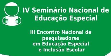 Uma figura de um menino lendo um livro - IV Seminário Nacional de Educação Especial e III Encontro Nacional de Pesquisadores em Educação Especial e Inclusão Escolar