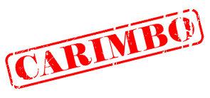 """Estigma - Imagem de papel carimbado com o termo """"carimbo"""" em vermelho"""