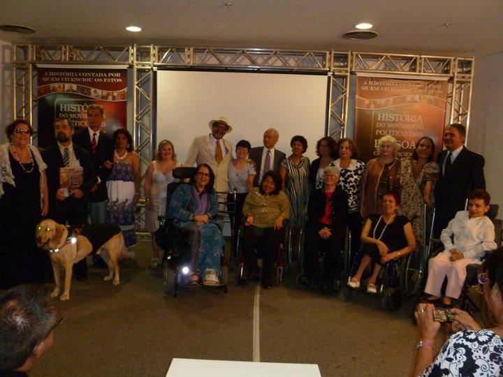 Pessoas que deram depoimentos para o documentario e livro Historia do Movimento Politico das Pessoas com Deficiencia