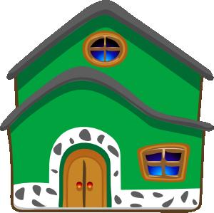 Ilustração de casa verde