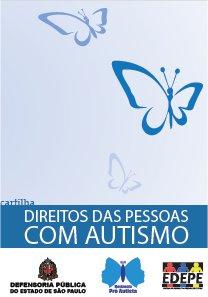 Capa da cartilha, o título da publicação e borboletas esvoaçantes