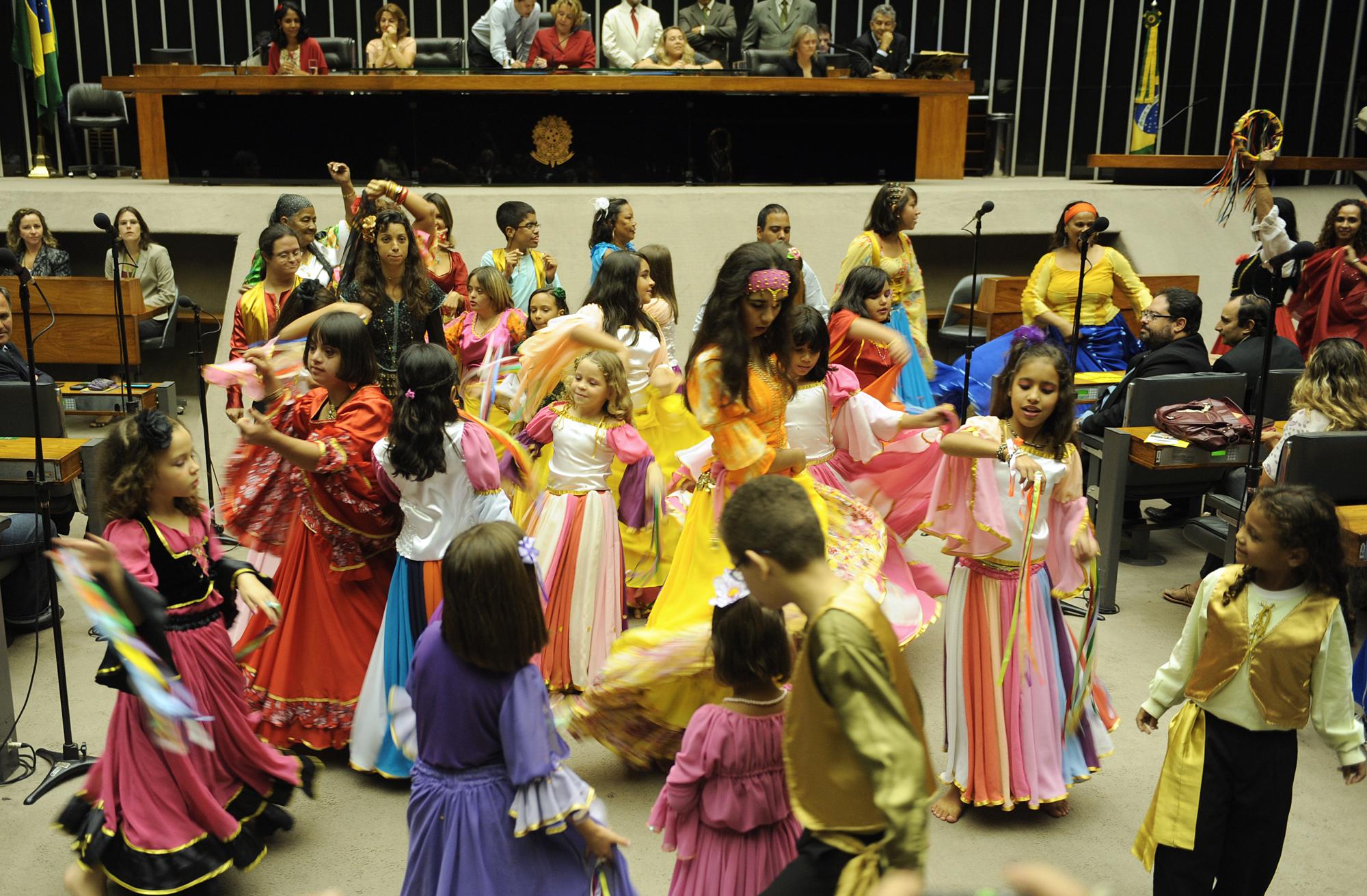 Apresentação de dança cigana