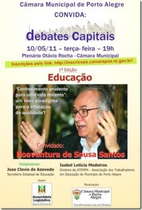 Flyer do debate - texto a seguir
