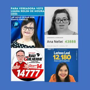 santinhos de 4 candidatos a vereador.