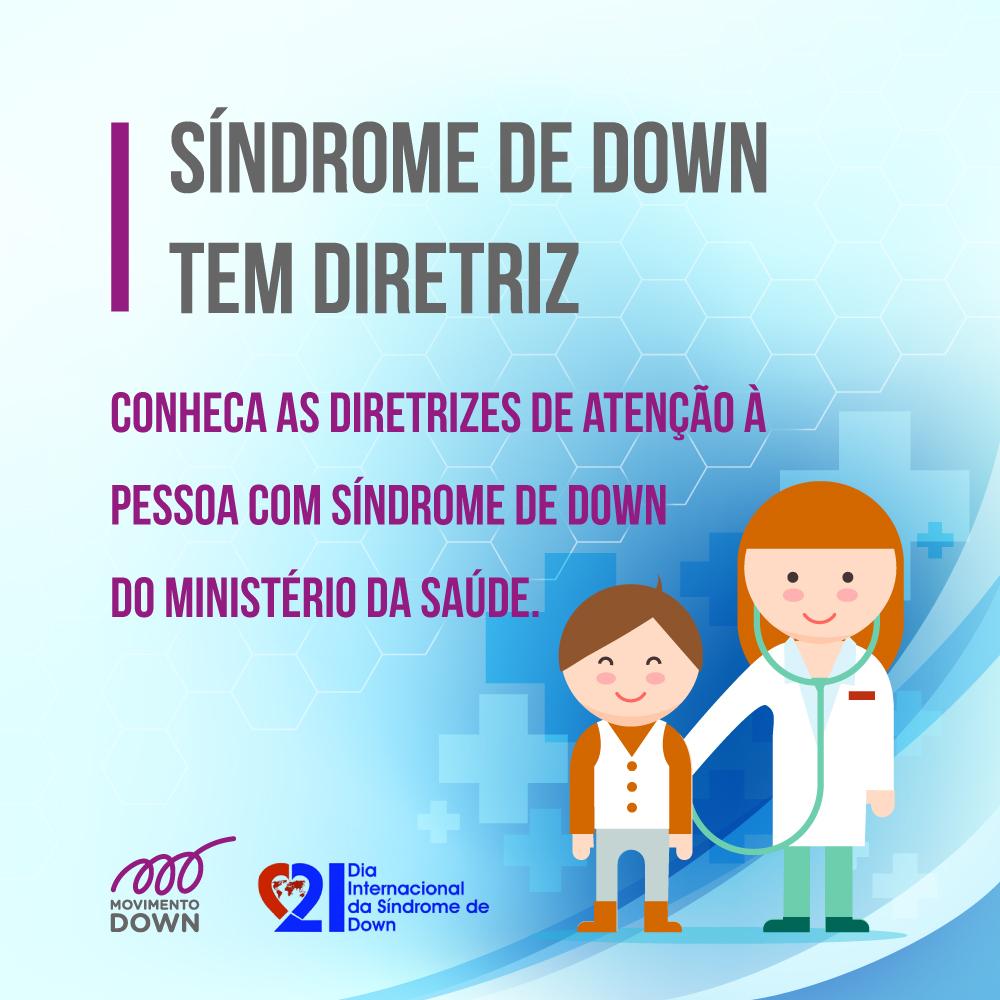 medica com menino - sindrome de down tem diretriz. logo movimento down e dia internacional da sindrome de down.