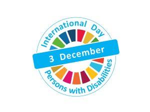 logo do dia internacional da pessoa com deficiencia 3/12.
