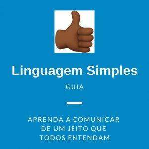emoji com o dedo pra cima. texto - linguagem simples - guia - aprenda a comunicar de um jeito que todos entendam.