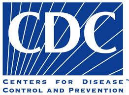 Logo do CDC em azul e branco.
