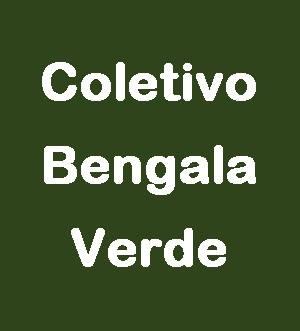 Coletivo Bengala Verde escrito em branco sobre fundo verde.