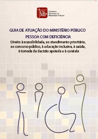capa do livro - fundo salmao e tracos representando pessoas com deficiencia.